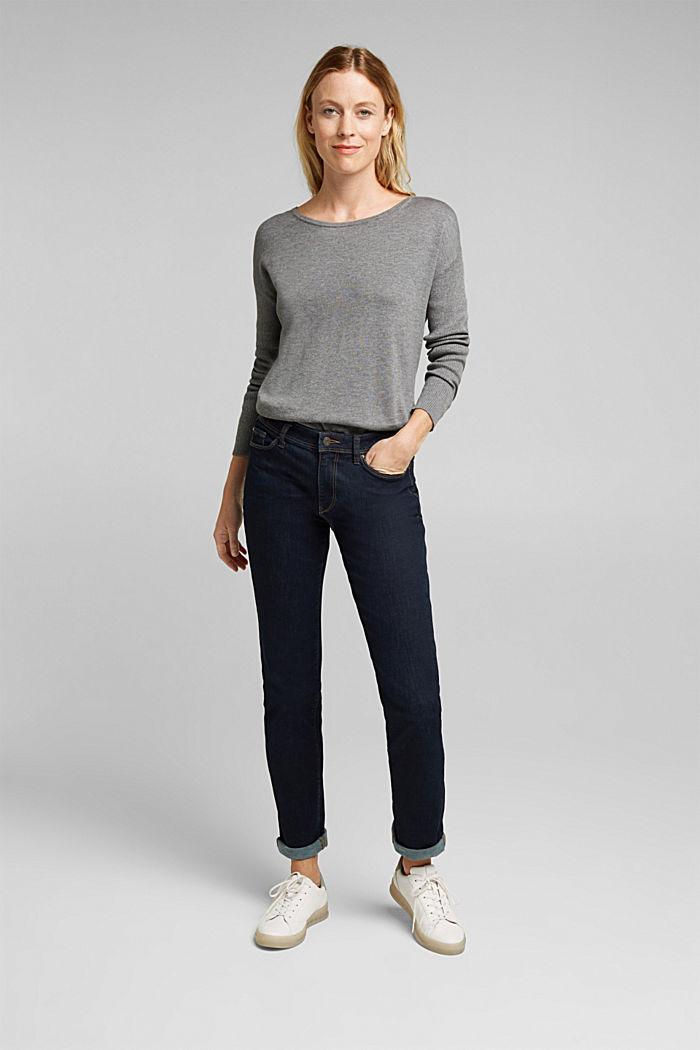Basic jumper with organic cotton, GUNMETAL, detail image number 1