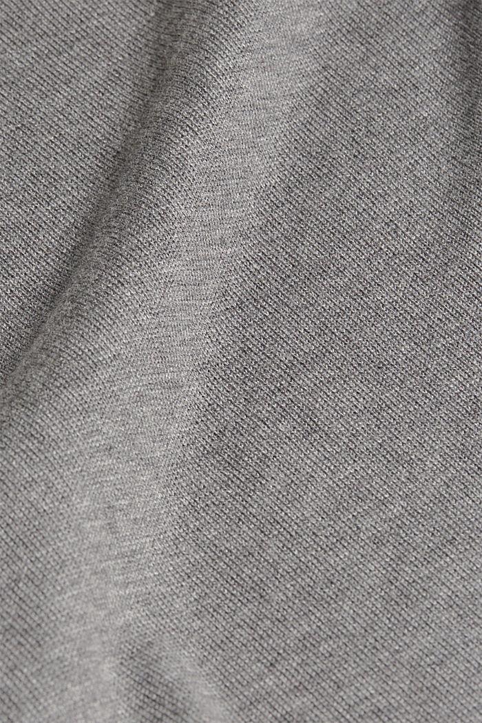 Basic jumper with organic cotton, GUNMETAL, detail image number 3