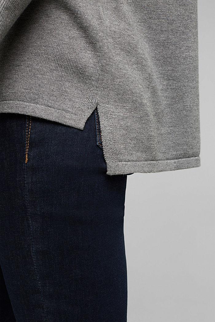 Basic jumper with organic cotton, GUNMETAL, detail image number 4