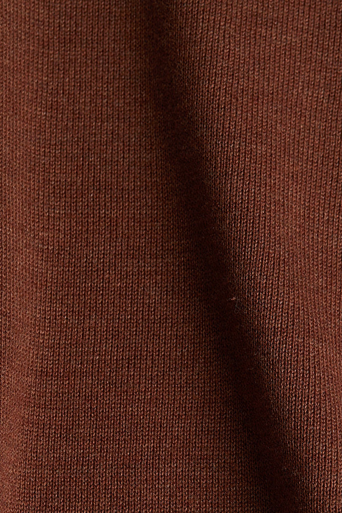 Basic jumper with organic cotton, BROWN, detail image number 3
