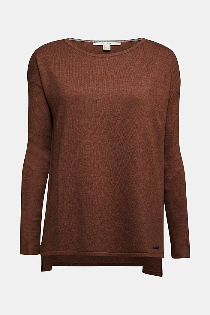 Basic jumper with organic cotton, BROWN, detail image number 6