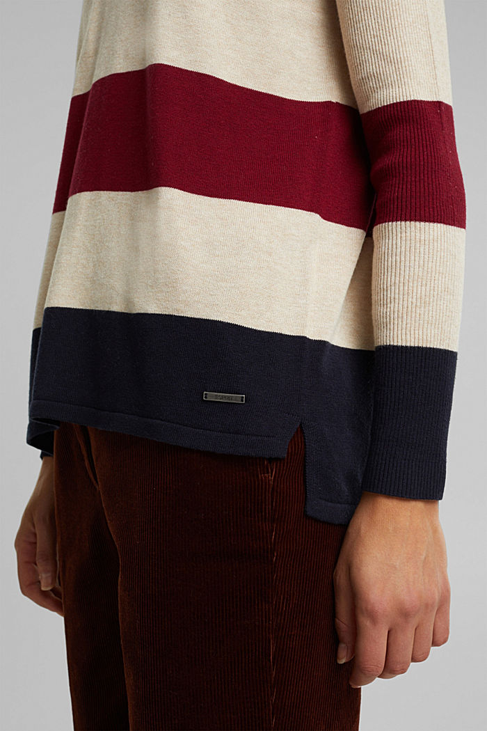 Basic jumper with organic cotton, SAND, detail image number 2