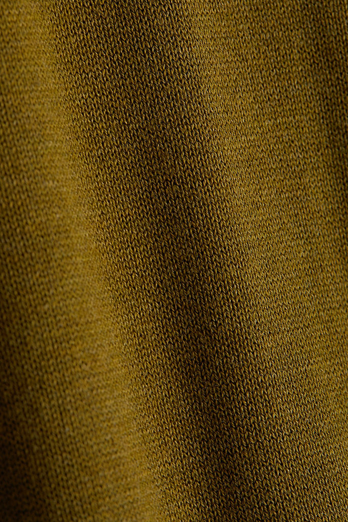 Basic jumper with organic cotton, OLIVE, detail image number 3
