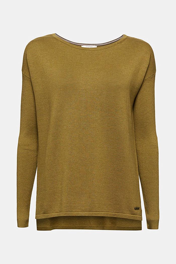 Basic jumper with organic cotton