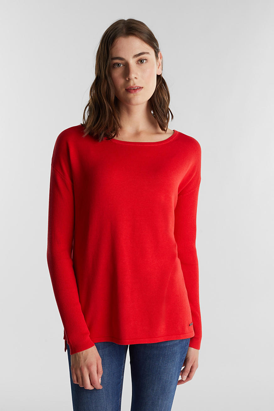 Basic jumper with organic cotton