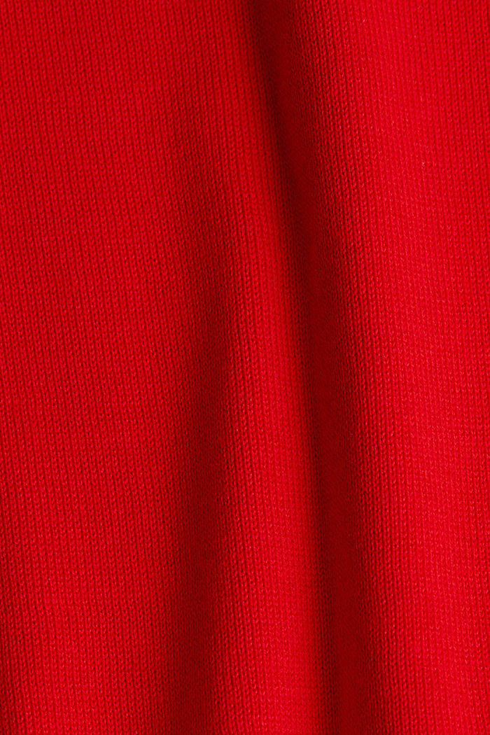 Basic jumper with organic cotton, RED, detail image number 3