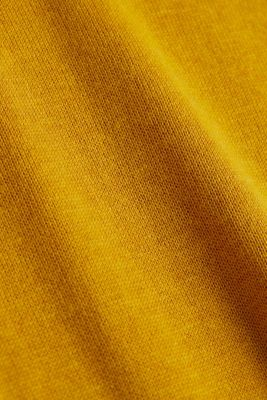 Basic jumper with organic cotton, BRASS YELLOW 5, detail