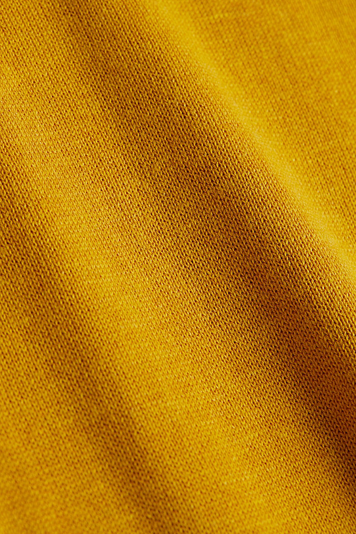 Basic jumper with organic cotton, BRASS YELLOW, detail image number 4