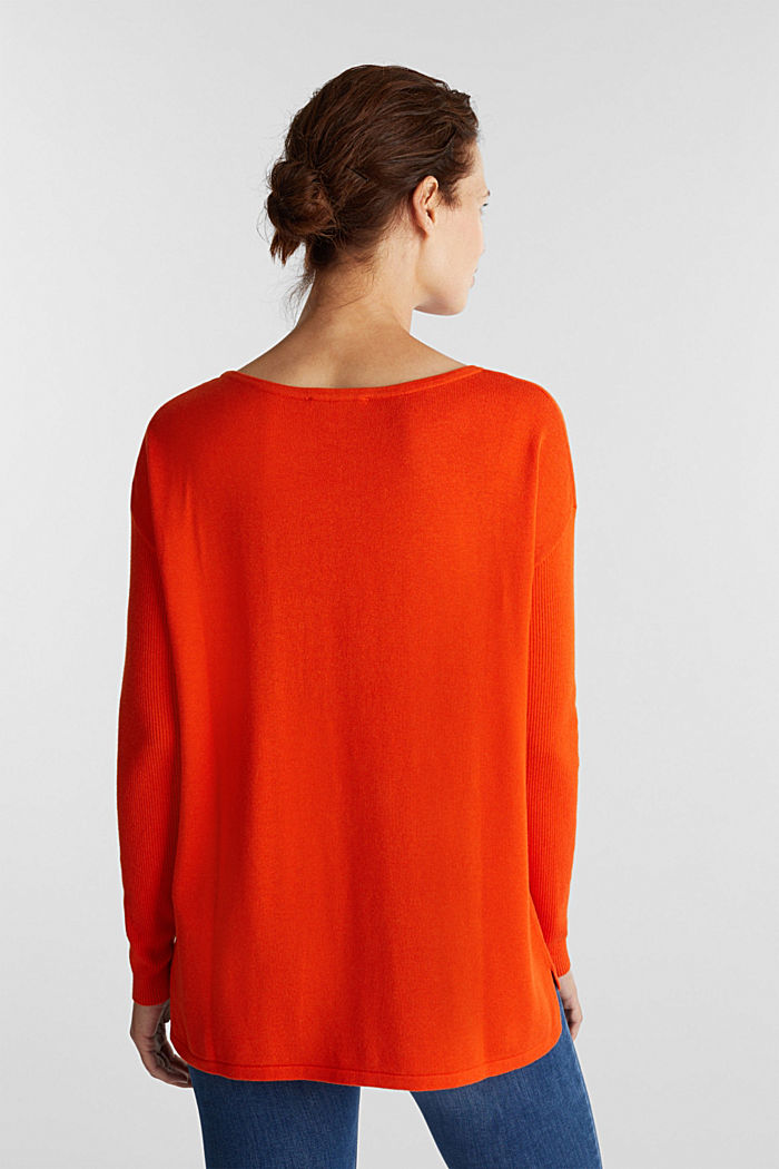 Basic jumper with organic cotton, RUST ORANGE, detail image number 3