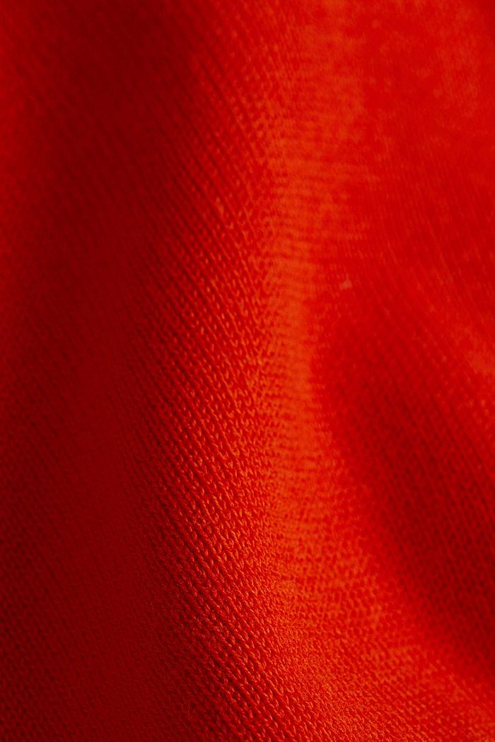 Basic jumper with organic cotton, RUST ORANGE, detail image number 4