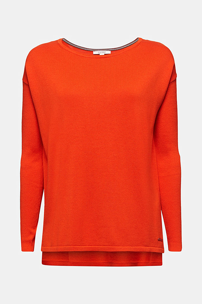 Basic jumper with organic cotton, RUST ORANGE, detail image number 6