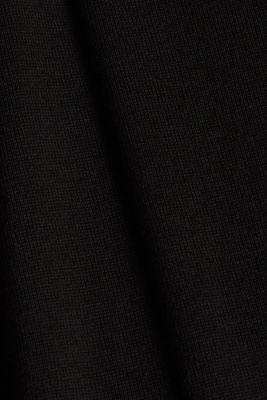 Long V-neck cardigan, BLACK, detail