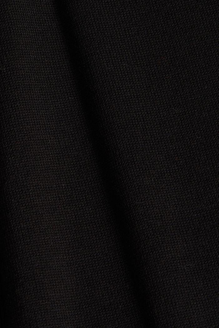 Long V-neck cardigan, BLACK, detail image number 4