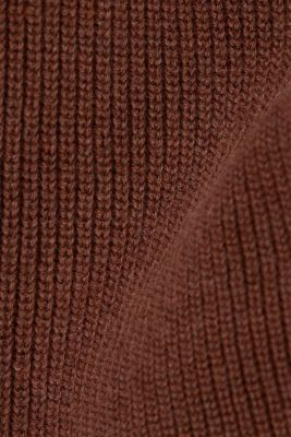 V-neck jumper made of organic cotton, BROWN 5, detail