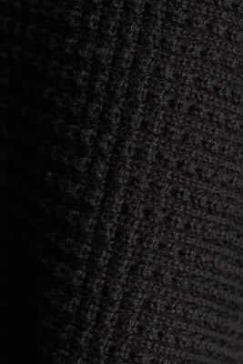 Batwing jumper with a texture, BLACK, detail