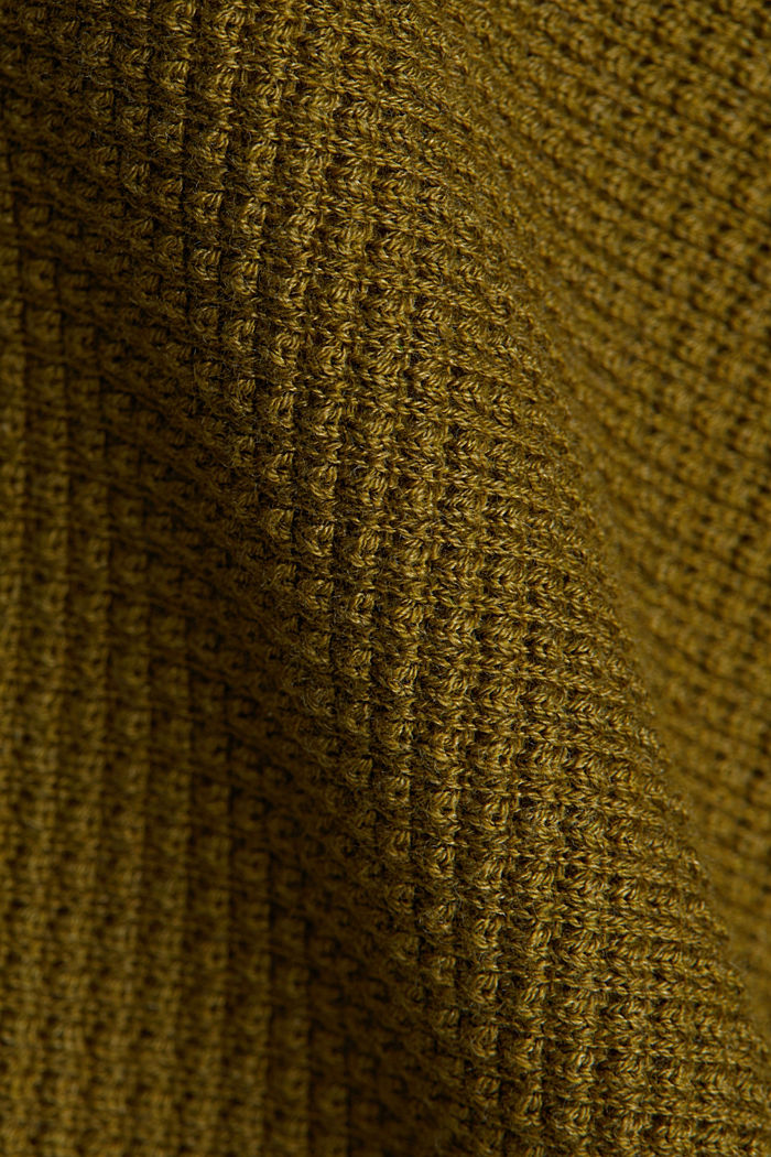 Batwing jumper with a texture, OLIVE, detail image number 4