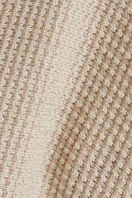 Textured cardigan with organic cotton, SAND 5, detail
