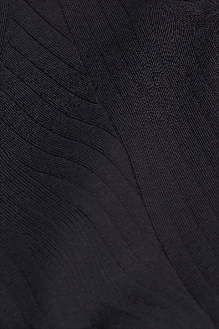 Ribbed jumper with organic cotton, BLACK, detail image number 3