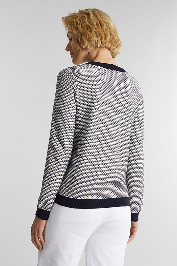 Jacquard jumper in a two-tone look, OFF WHITE, detail image number 2