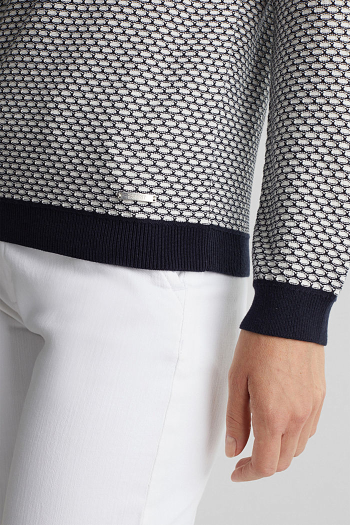 Jacquard jumper in a two-tone look, OFF WHITE, detail image number 4