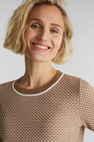 Jacquard jumper in a two-tone look