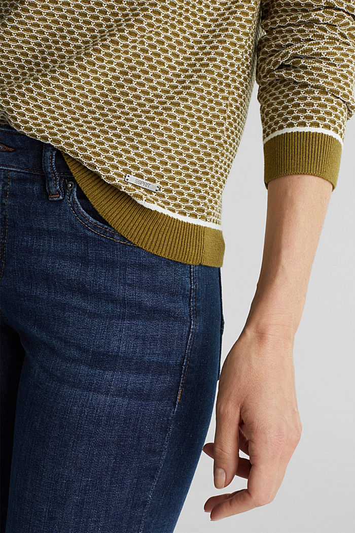 Jacquard jumper in a two-tone look, OLIVE, detail image number 2