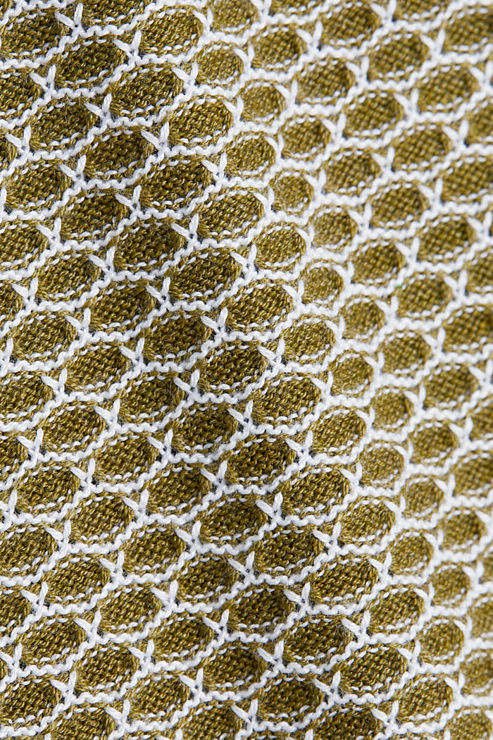 Jacquard jumper in a two-tone look, OLIVE, detail image number 4