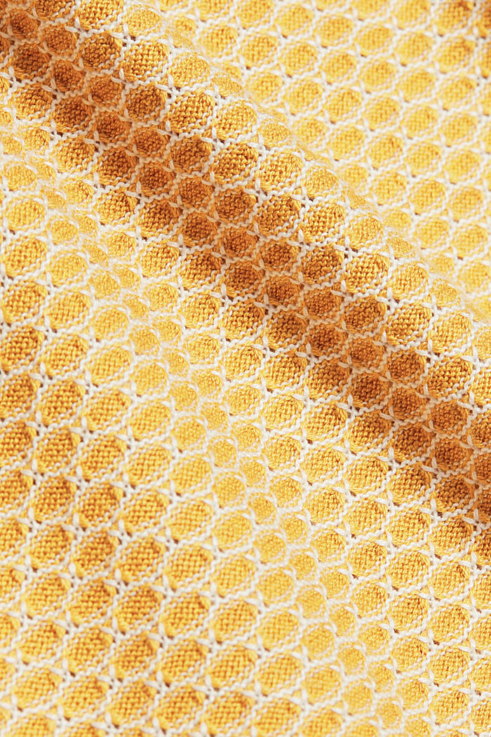 Jacquard jumper in a two-tone look, BRASS YELLOW, detail image number 4