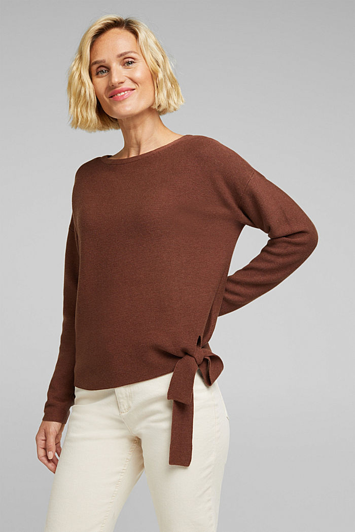 Jumper made of 100% organic cotton, BROWN, detail image number 0