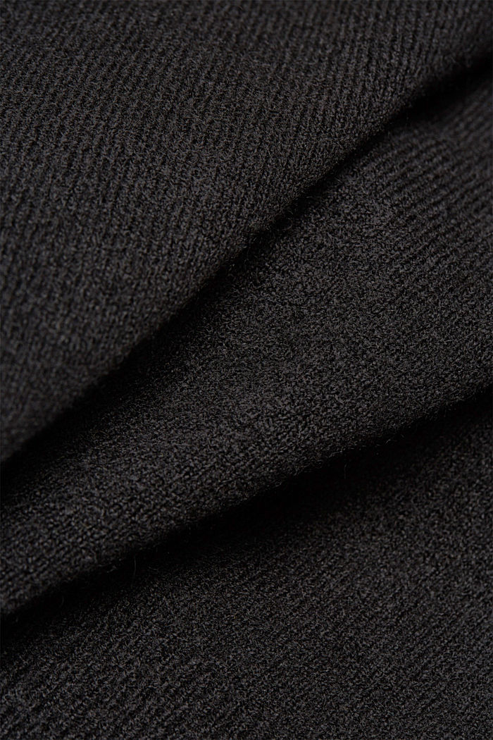Knit jumper with wool, BLACK, detail image number 4