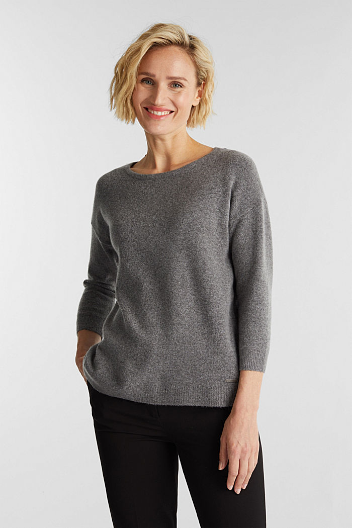 Knit jumper with wool