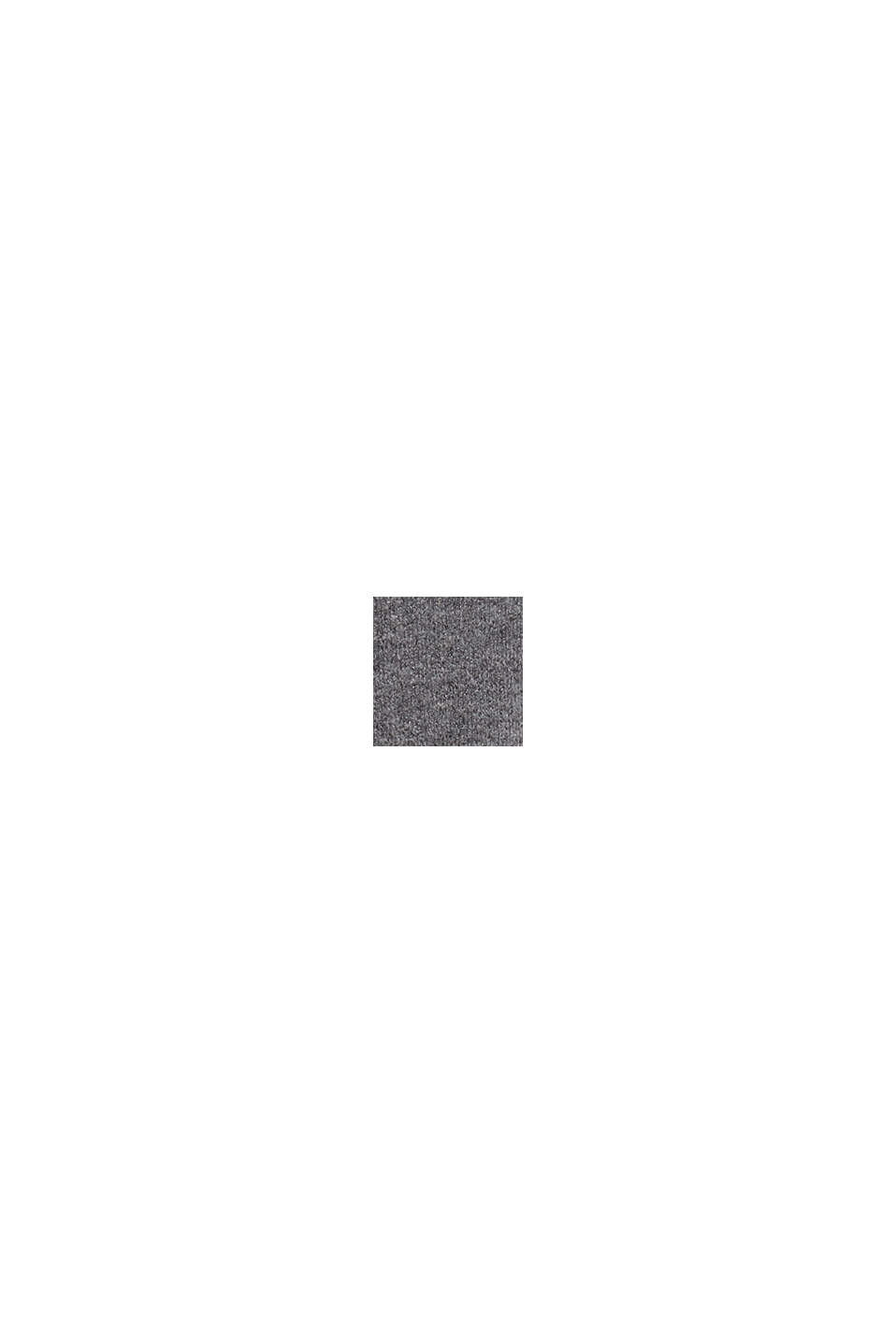 Dzianinowy sweter z wełną, GUNMETAL, swatch