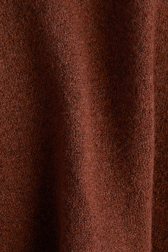 Knit jumper with wool, BROWN, detail image number 4