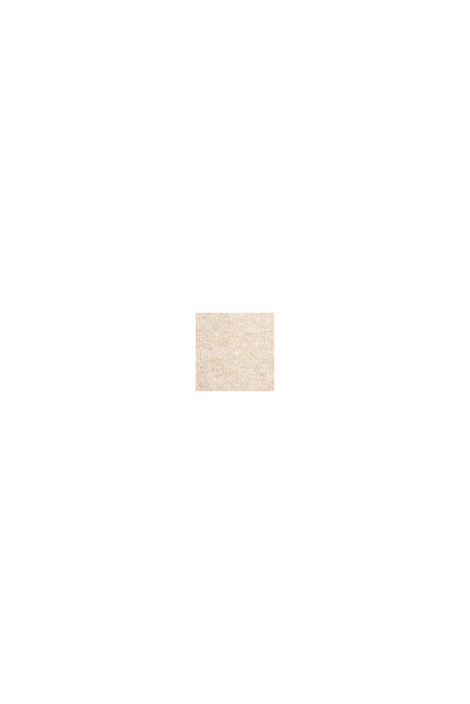 Dzianinowy sweter z wełną, BEIGE, swatch