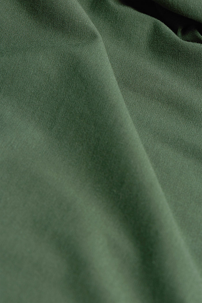 Knit jumper with wool, DARK GREEN, detail image number 4