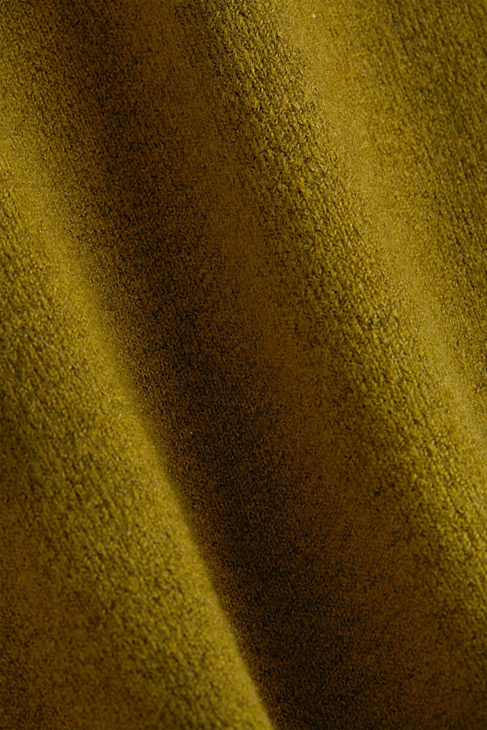 Knit jumper with wool, OLIVE, detail image number 4
