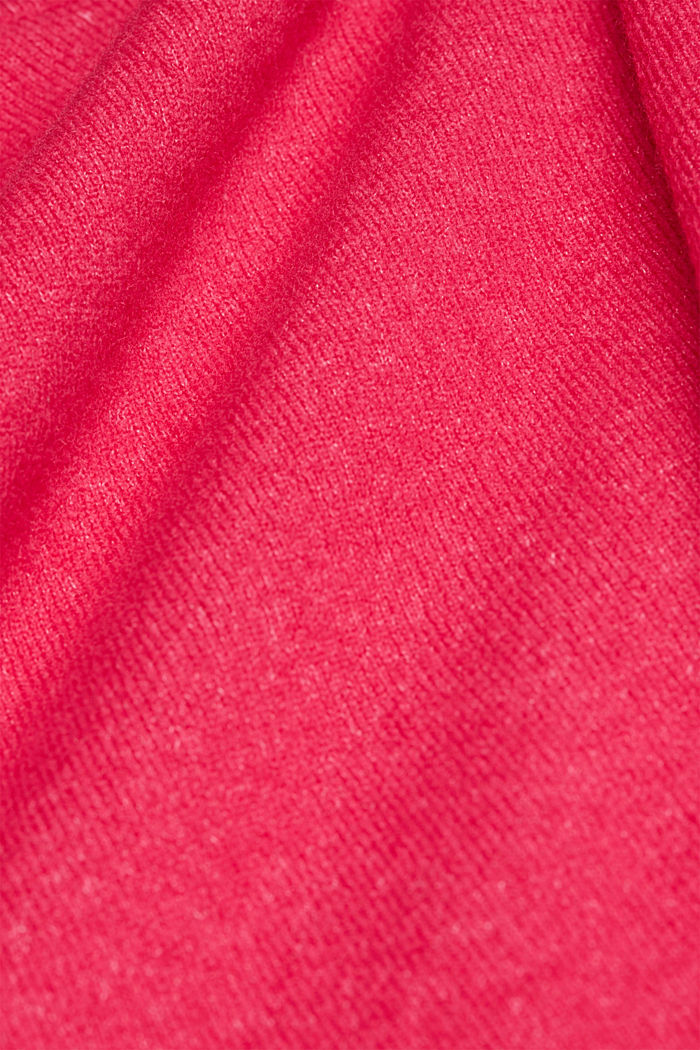 Knit jumper with wool, PINK FUCHSIA, detail image number 3