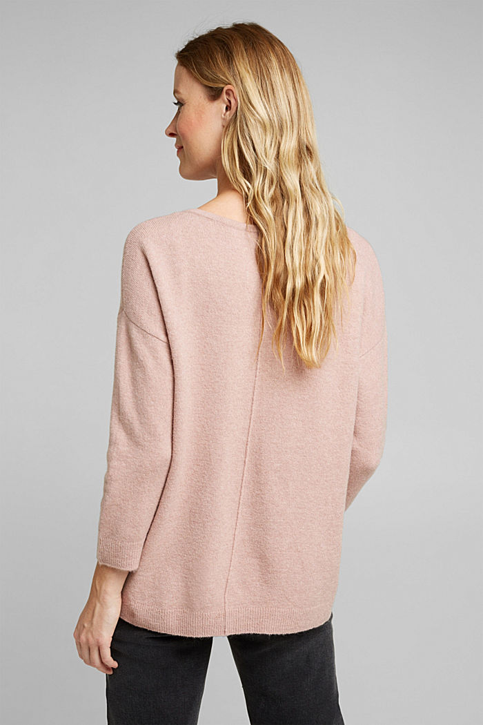 Knit jumper with wool, NUDE, detail image number 3