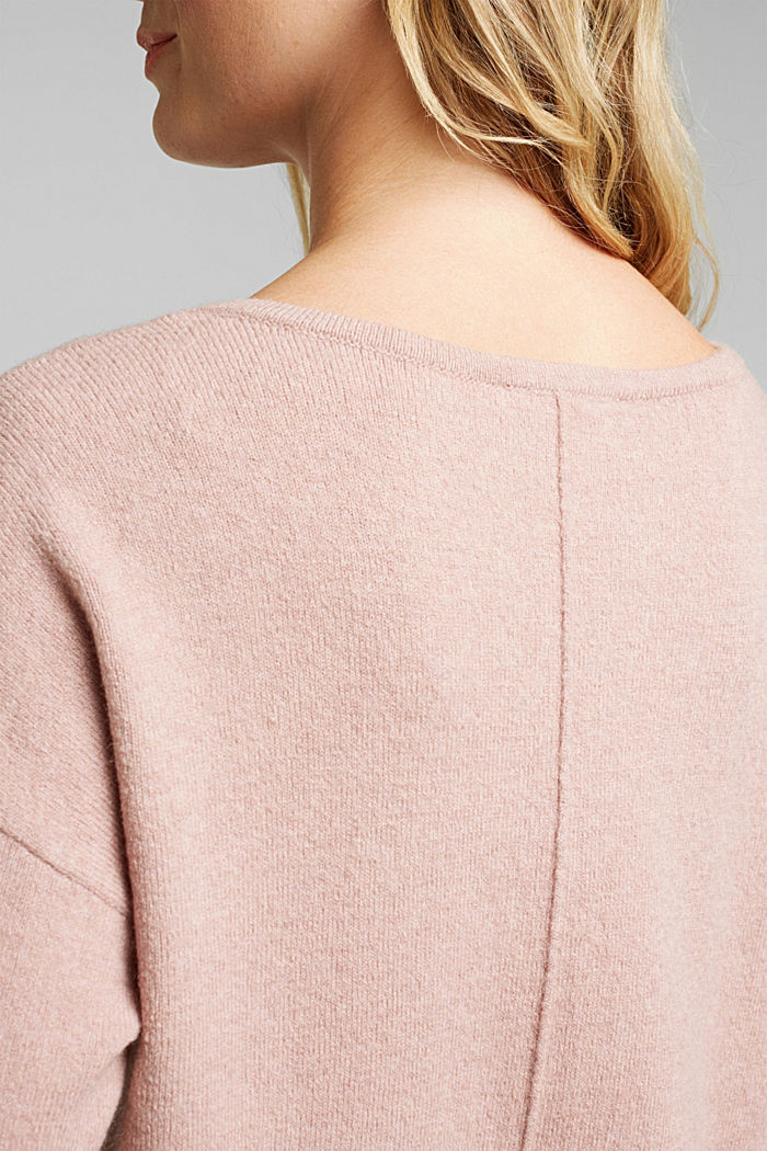 Knit jumper with wool, NUDE, detail image number 2