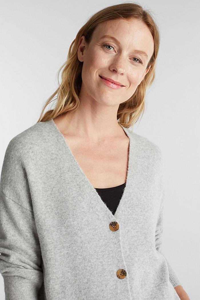 Wool blend: V-neck cardigan
