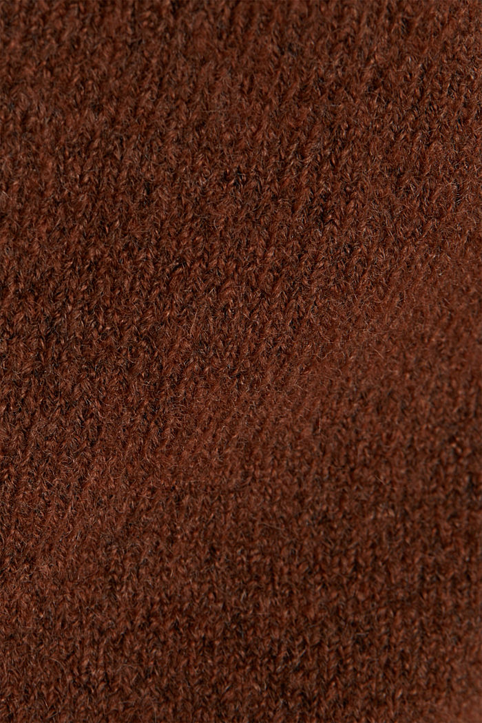 Cardigan made of soft blended wool, BROWN, detail image number 4