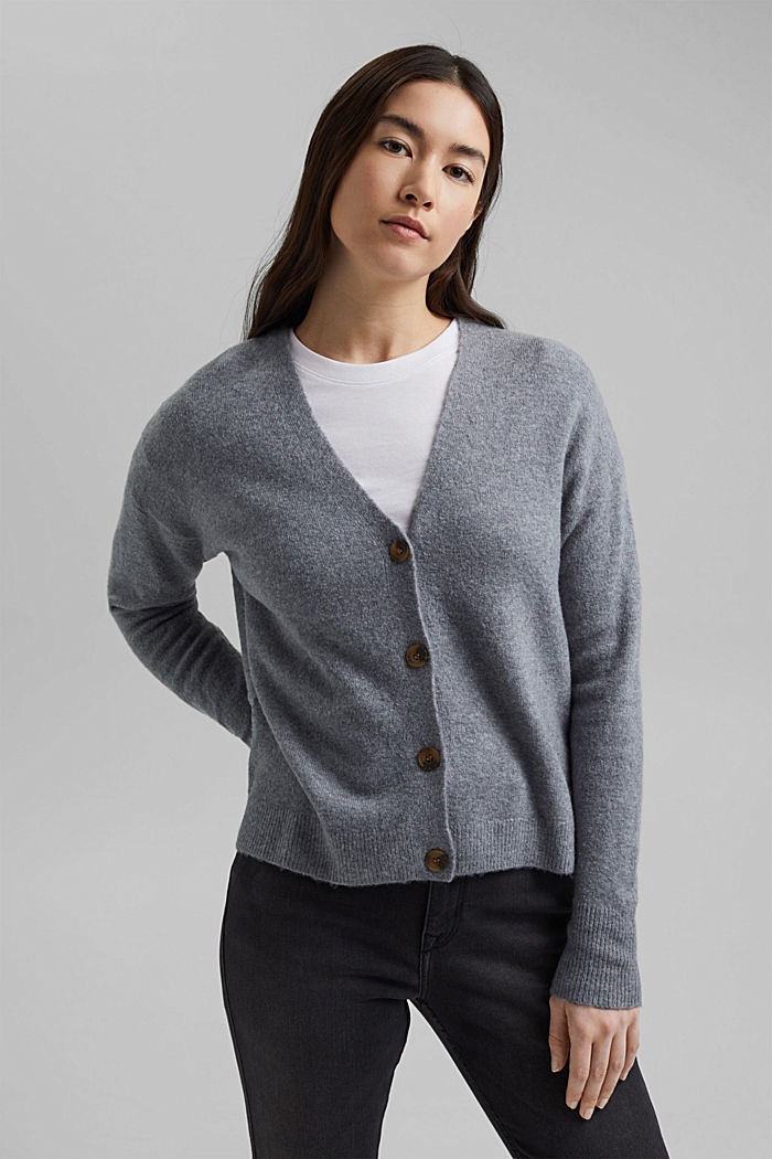Cardigan made of soft blended wool