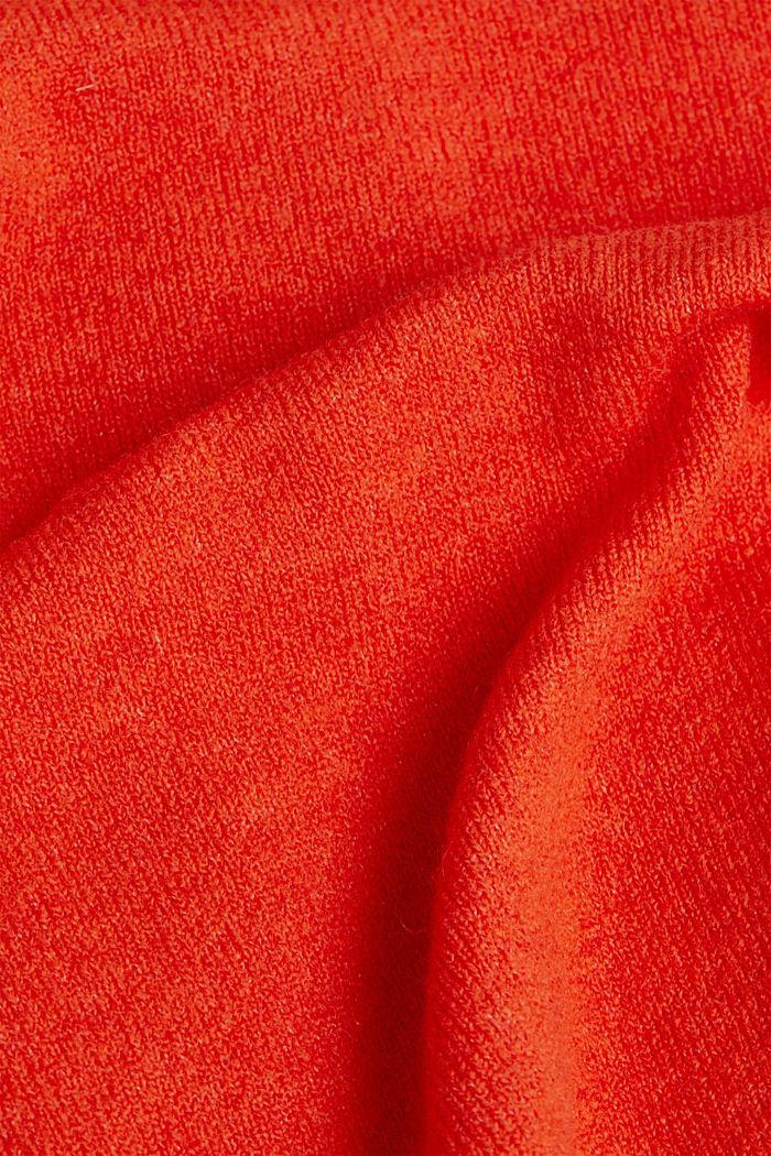 Cardigan made of soft blended wool, RUST ORANGE, detail image number 4