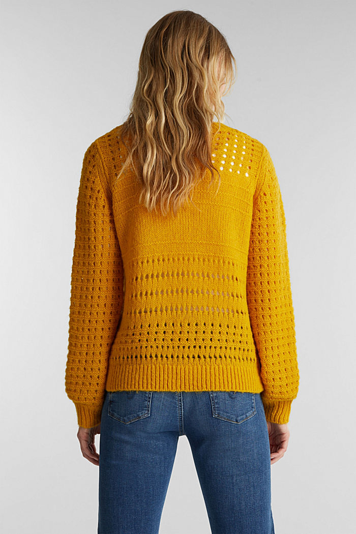 Jumper with alpaca, BRASS YELLOW, detail image number 2