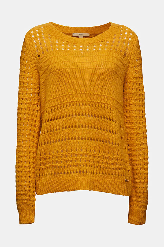 Jumper with alpaca, BRASS YELLOW, detail image number 5