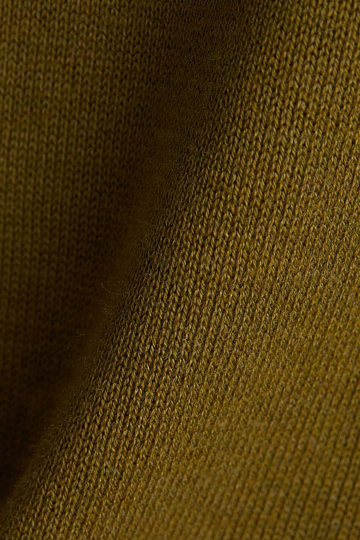V-neck jumper containing organic cotton, OLIVE, detail image number 4