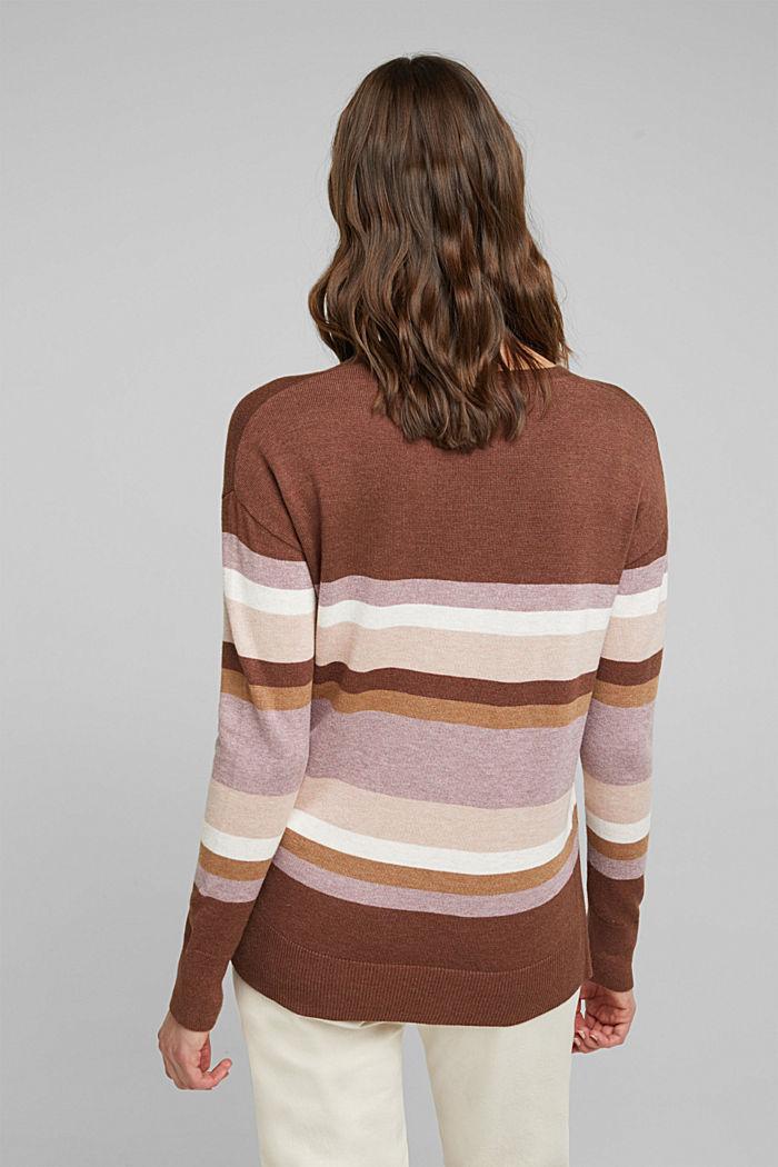 V-neck jumper containing organic cotton, MAUVE, detail image number 3