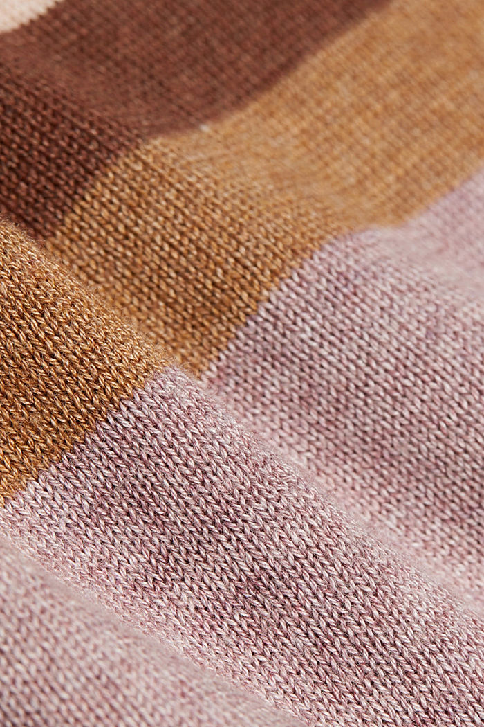 V-neck jumper containing organic cotton, MAUVE, detail image number 4