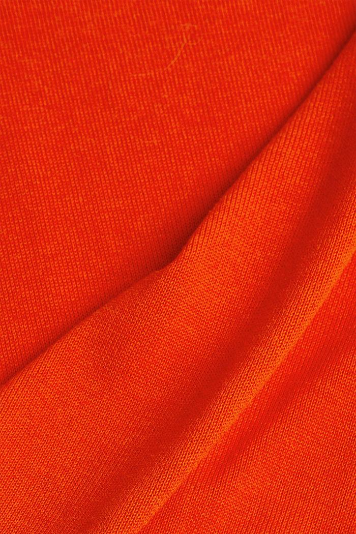 V-neck jumper containing organic cotton, RUST ORANGE, detail image number 4