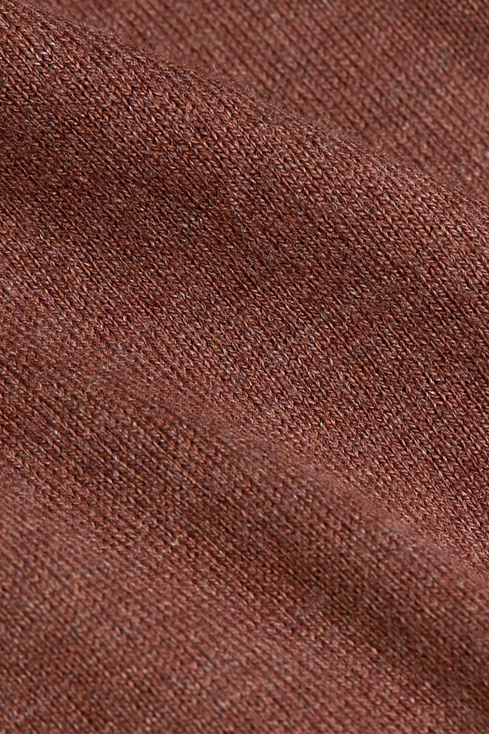 Knitted hoodie with organic cotton, BROWN, detail image number 4